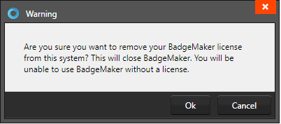 disconnect badgemaker key